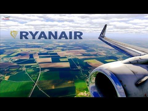 Realistic B738 Ryanair Approach & Landing Leipzig Airport l X-Plane 11