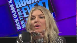 Fergie Blows a Kiss - NYRE 2017