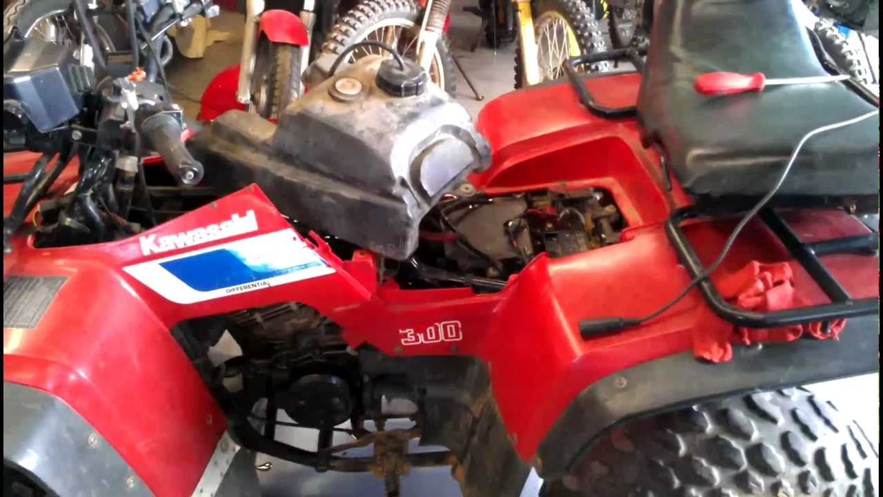 kawasaki bayou 300 project is now running