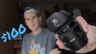 BEST CANON LENSES FOR UNDER $100!!! (What Equipment I use to vlog)
