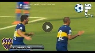 Gol de Díaz. Boca 2 - Tigre 1. Fecha 15. Torneo Inicial 2013. Fútbol Para Todos