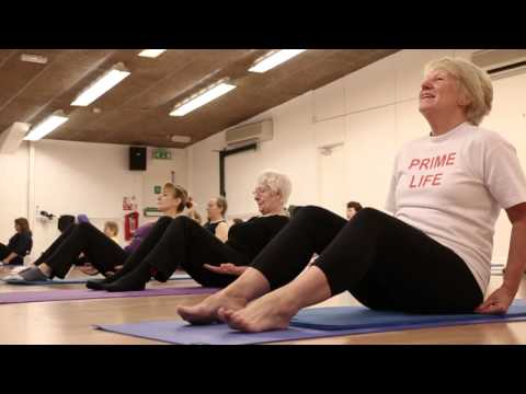 'Pilates' session at Broadmeadow Sports Centre, Teignmouth