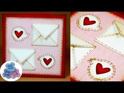Tarjetas De Amor Tarjetas De San Valentin Diy Card Making Tutorial