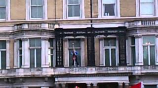 Flag Change At Libyan Embassy London Protest Hd