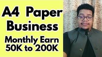 A4 paper business idea