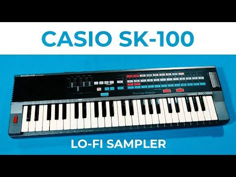 """Casio SK-100 sampling keyboard demo - """"Over Again"""""""