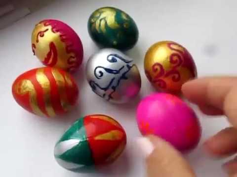 Идеи для творчества с детьми к Пасхе: украшения - квиллинг и красим яйца