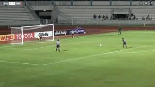 ครบ 90 นาที  ทำอะไรกันไม่ได้  ฟุตบอลหญิง ลาว กลับไทยโดนจุดโทษ ไทยชนะ 5 3