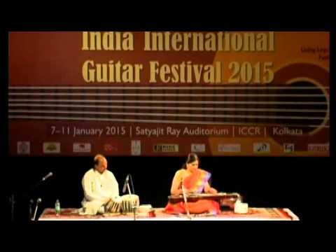 Dr. Kamala Shankar performing  Shankar Guitar at India International Guitar Festival 2015