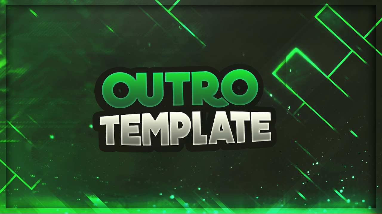 2d outro template photoshop by phoenix youtube for Free outro template