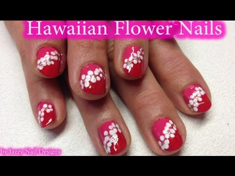 Hawaiian Lei Flowers Nail Art Cute And Easy Nails For Beginners No