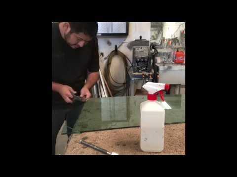 How To Cut Safety Glass (laminated Glass)