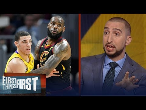 Nick Wright reacts to LeBron's Cavs losing to Lonzo's Lakers   FIRST THINGS FIRST