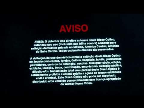 Warner Home Video's Multi-Languages Copyright Warning Screens Optical Disc (2009)
