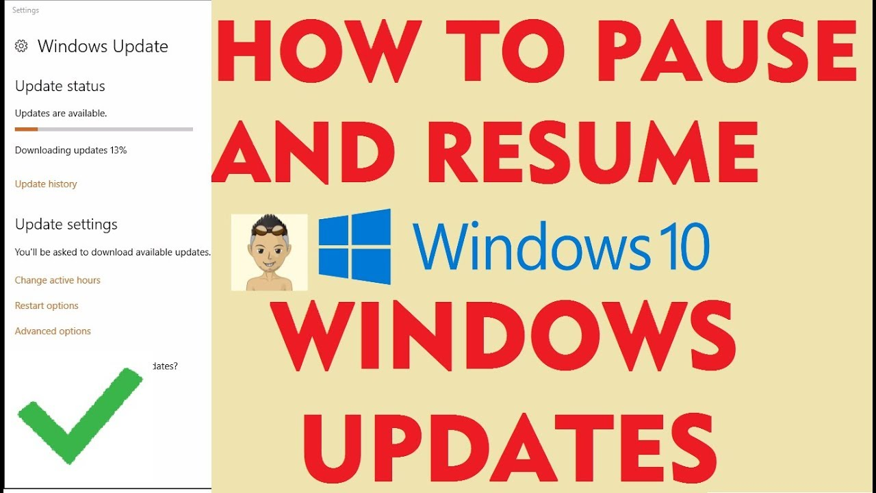 How to pause Windows Updates in Windows 10 - YouTube