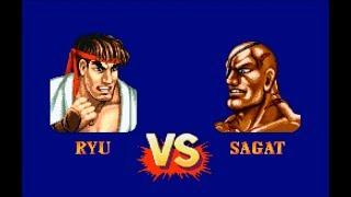 Street Fighter II Turbo Hyper Fighting - Ryu vs. Sagat - Hardest Setting