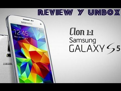 Clon Samsung Galaxy S5 en Español (Aliexpress) - Unbox & Review completa | HD