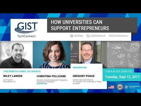 GIST TechConnect: How Universities Can Support Entrepreneurs