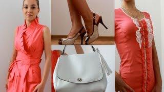 Покупки одежды в коралловых тонах  на лето 2013 + обувь и сумка