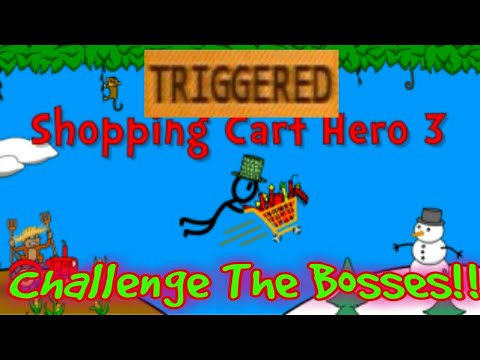 HOW TO TRIGGER THE BOSSES IN SHOPPING CART HERO 3-Tutorial!!!