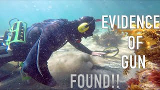 EVIDENCE!! of Gun FOUND Bullet Cash & Jewlery Underwater Metal Detecting TREASURE