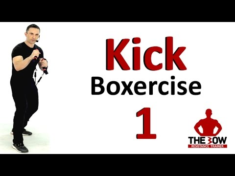 BOW Kick-Boxercise Lesson 1.  Kick Boxing training with Coac