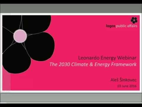 2030 climate & energy framework