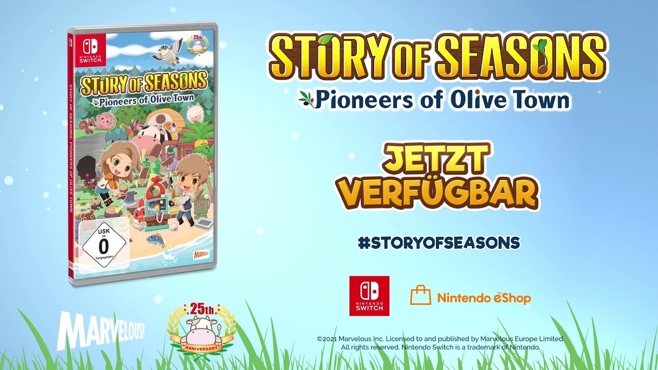 STORY OF SEASONS: Pioneers of Olive Town - Trailer starten - Erzähl deine Geschichte [GERMAN]