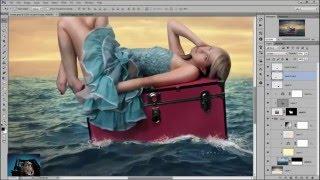 Photoshop CS2 Tutorials - Girl On The Sea - Photoshop Manipulation Tutorial
