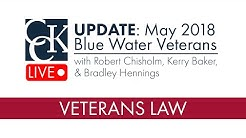 Blue Water Veterans Legislation (May 2018)