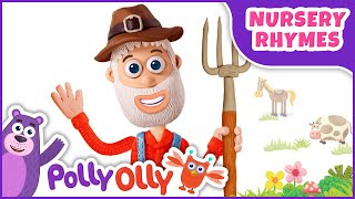 Old MacDonald Had a Farm | kids videos for kids | Nursery Rhyme for Kids | Polly Olly