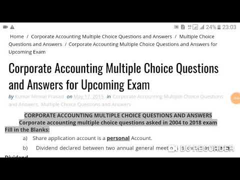 Accounting Multiple Choice Questions