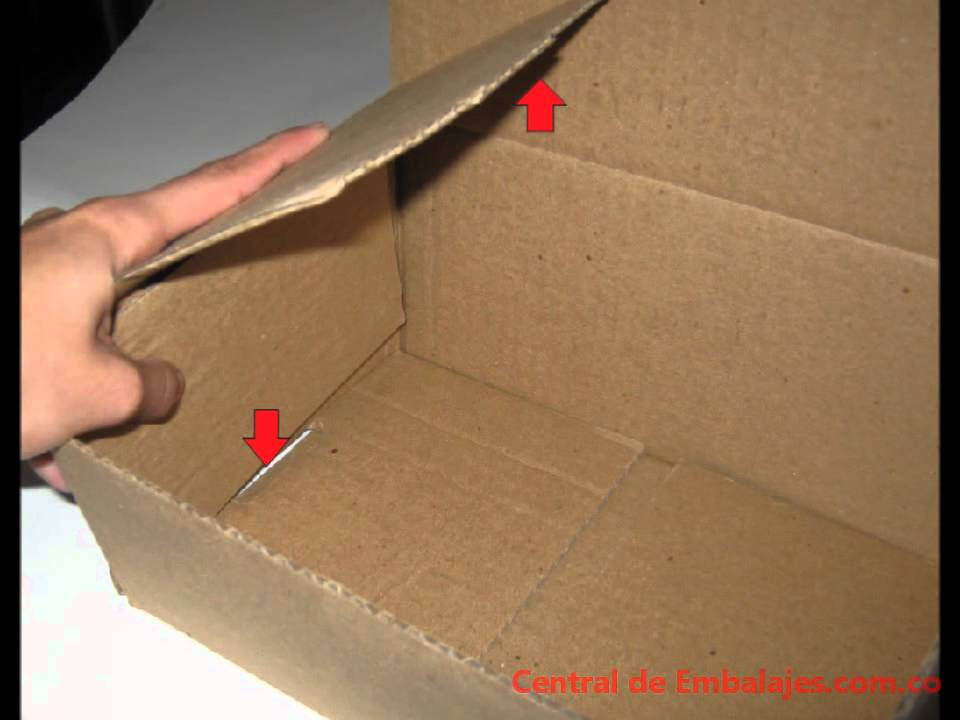 C mo armar una caja de carton tipo cofre youtube - Como forrar una caja con tela ...