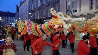 2019 Chinese New Year parade in Perth, Scotland, with Chinese Consul General Pan Xin Chun