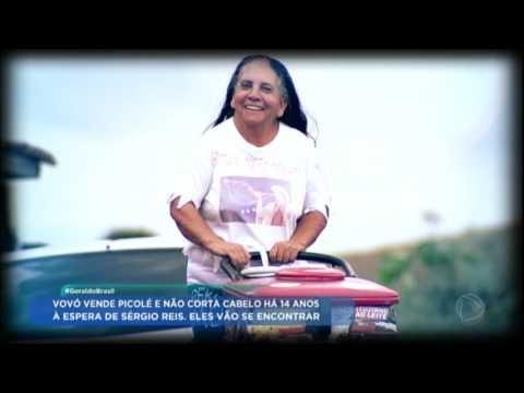 Geraldo Luis conhece fã de Sérgio Reis que não corta o cabelo há 14 anos