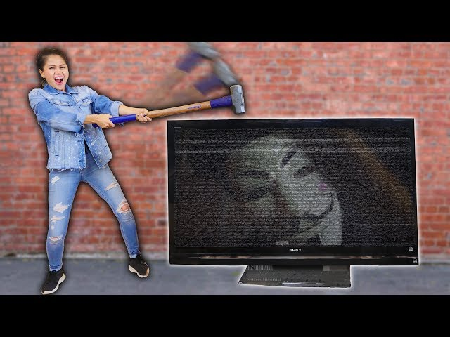 CAUGHT HACKER SPYING ON ME & DESTROYING TV with NINJA GADGETS