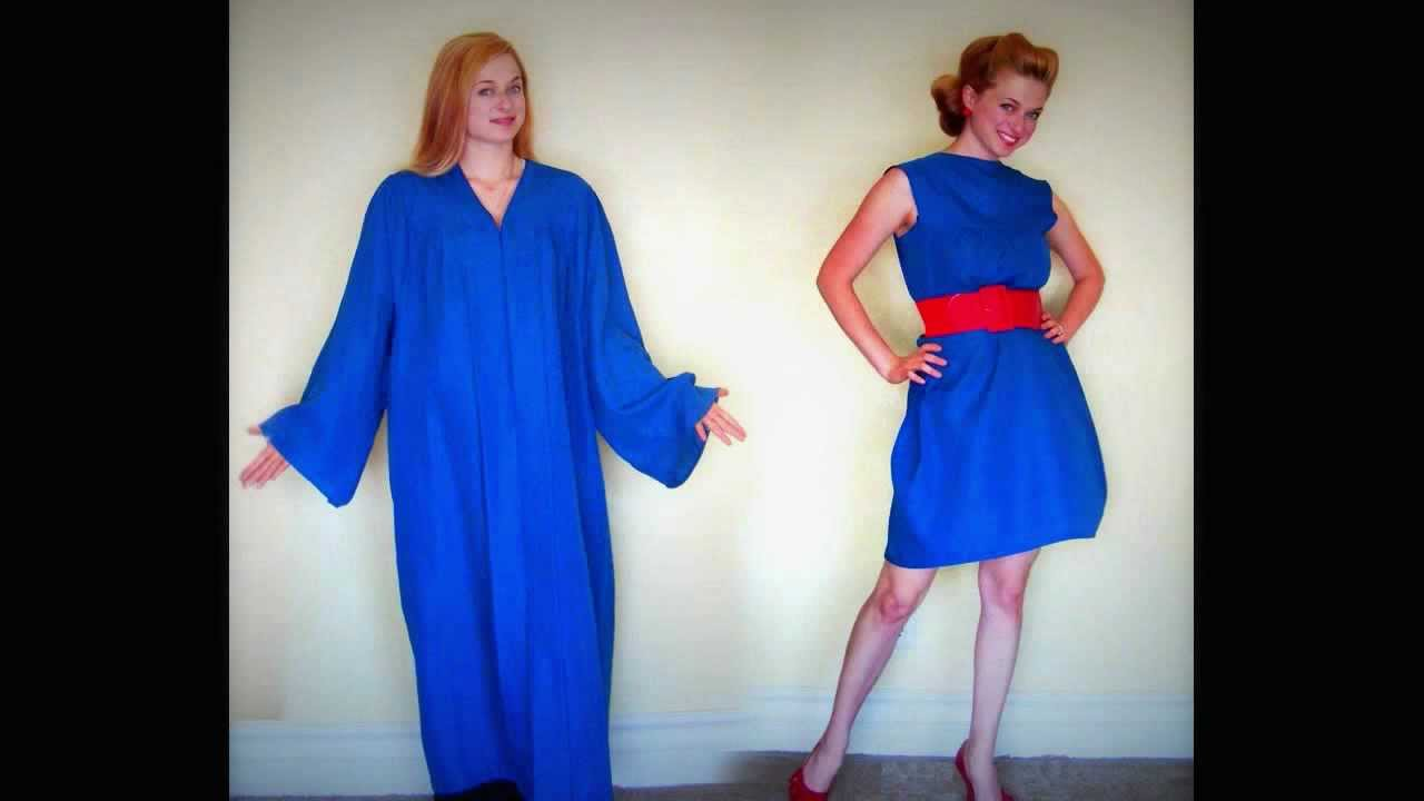 Chic on the Cheap: Graduation Gown to Glam! - YouTube