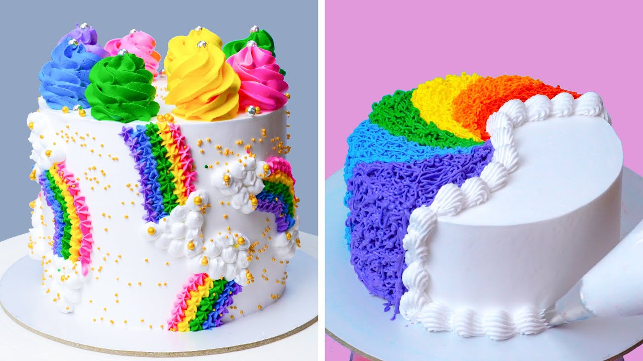 Most Satisfying Rainbow Cakes Decorating Videos | How to Make Colorful Cake Decorating Tutorial