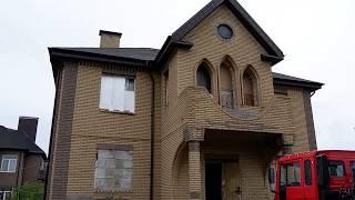 Обзор дома и комбинирование кирпича ФАГОТ и ЛИТОС в одном ансамбле