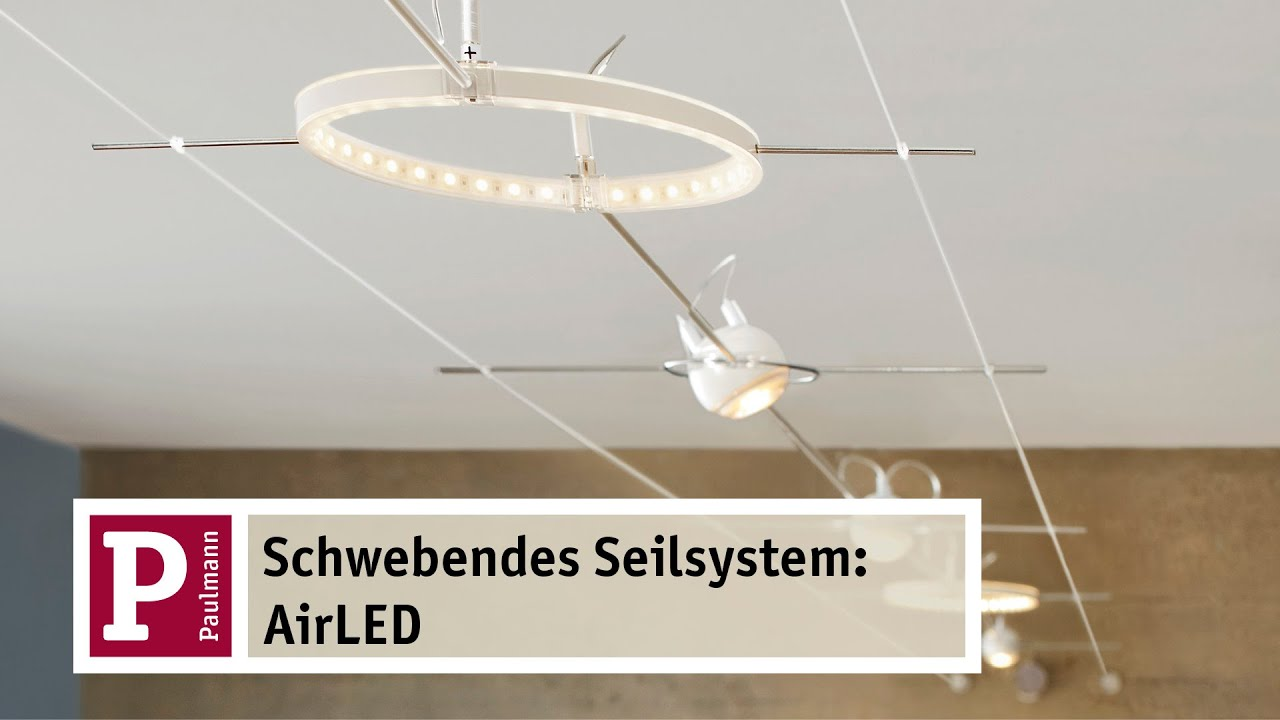 airled das schwebende led seilsystem youtube. Black Bedroom Furniture Sets. Home Design Ideas