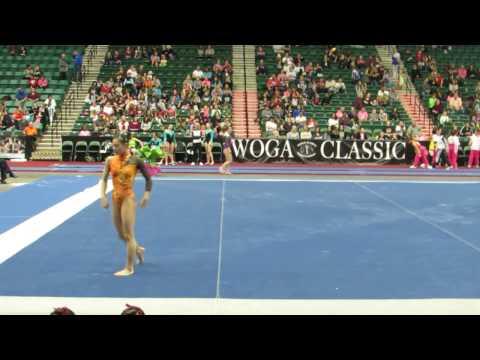 WOGA Classic 2017 Shiho Nakaji  Toda City Sports (JPN)  FX 12.1 (4.3,7.8)