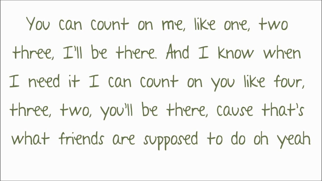 Counting Crows LYRICS - You Can't Count On Me Lyrics