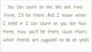 Bruno Mars - Count On Me Lyrics ♥ HD