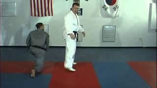 Hapkido Rear Bear Hug Above Elbows Techniques 1 Thru 4, Ji Han Jae