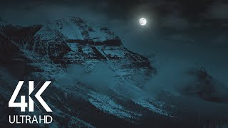 8 HOURS of Calming Wind Sound - White Noise for Sleep - Winter Night at Stanley Glacier Trail