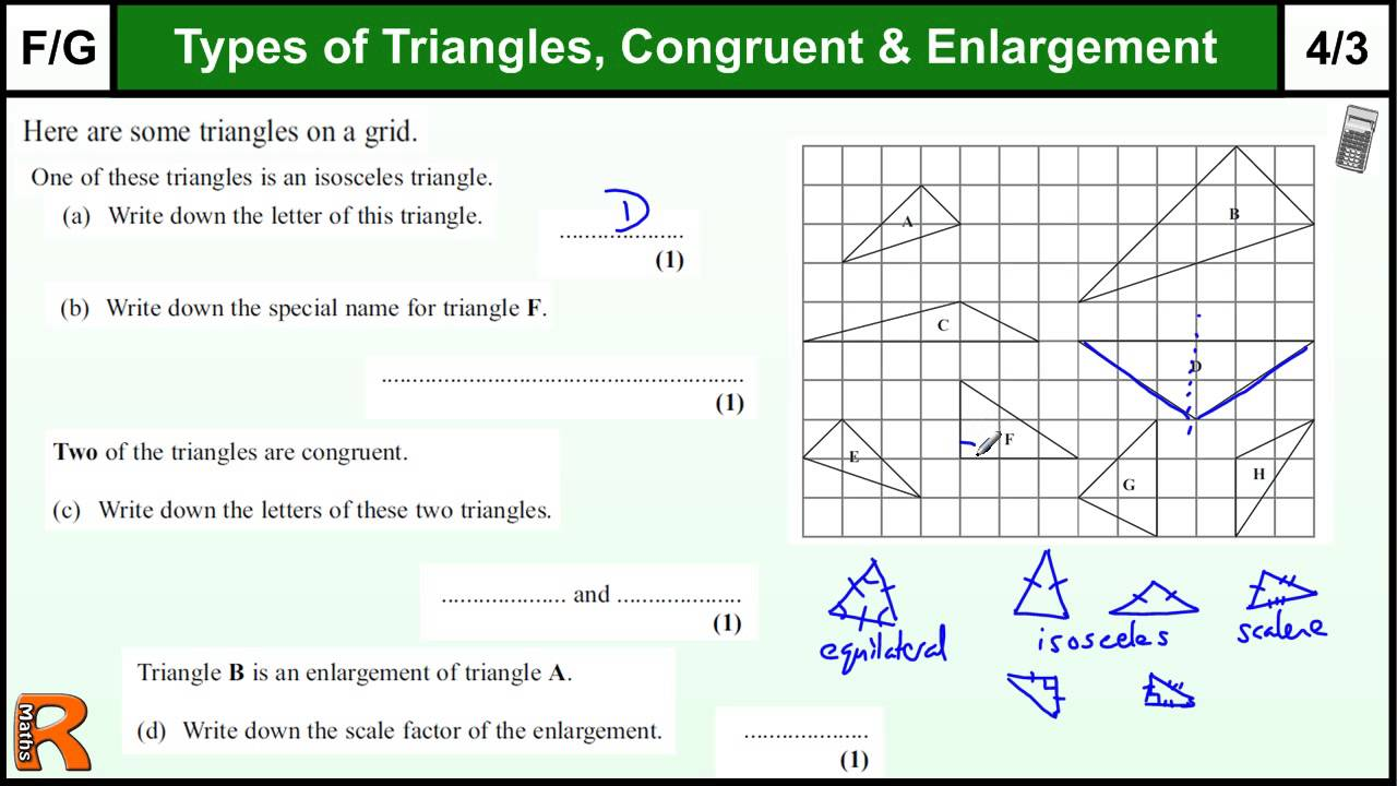 Types Of Triangles Congruent Gcse Maths Foundation