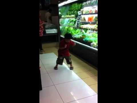 Igor dancing at Ranch Market