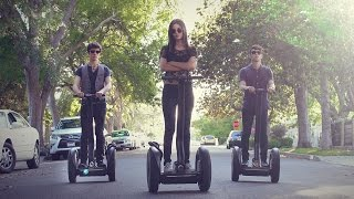 Repeat youtube video Justin Timberlake Medley! Victoria Justice & Max | ONE TAKE on SEGWAYS