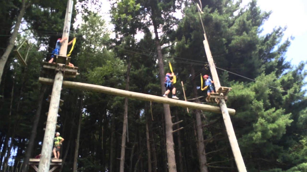 VIDEO High Ropes balance beam - YouTube