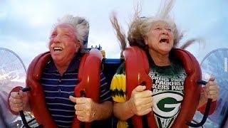 Old People | Funny Slingshot Ride Compilation